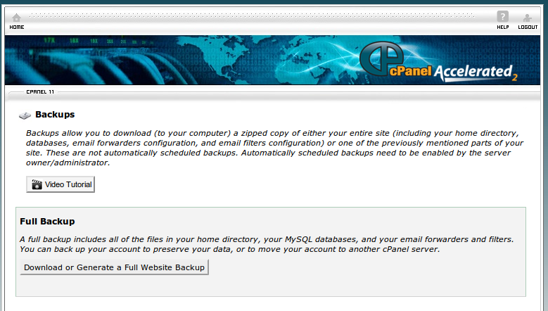cpanel inside Automatski backup pomoću cPanel a i php skripte tehnodrom  Tutorijal php HowTo cPanel BackUp