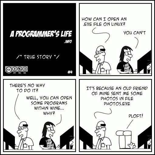.exe fajl u Linux-u #epicfail